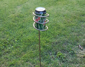 outdoor drink holder, camping, beverage holder, patio, bbq, deck, backyard, winery, wine,