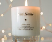 New Home Gift , Housewarming Gift , First Home Gift , Moving Home , Moving Out Gift , Scented Candles , Make A Wish In Your New Home ,Candle