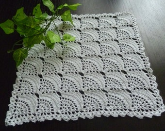 Knitted crochet doily