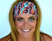 Workout Headband Funky Feather Yoga Headband Spandex Headband Running Nurse Gift FREE Headband(s) Code BUY3GET1FREE or BUY6GET2FREE