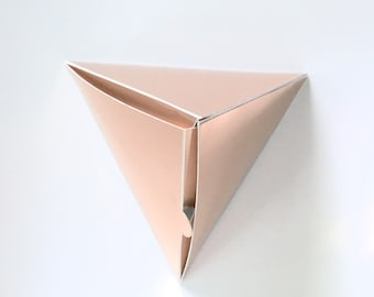 Rose Gold Gift or Favor Boxes | Sample | Geometric Small Gift Boxes | Wedding Favor Boxes | Christmas Gift Boxes | Triangle Favor Box