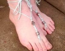 Bead Barefoot Sandal, Assorted Beads