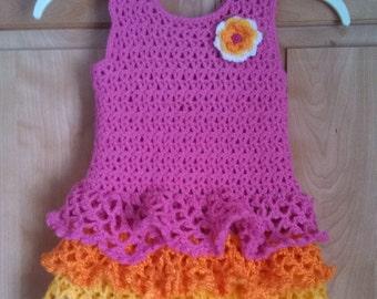 Hand crocheted little girl's dress