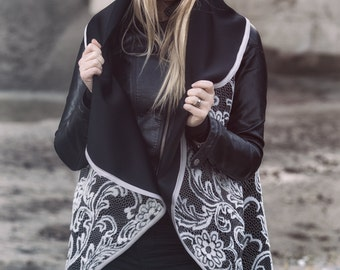 Neoprene lace poncho