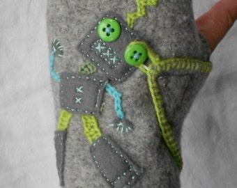 Robot Fingerless Gloves