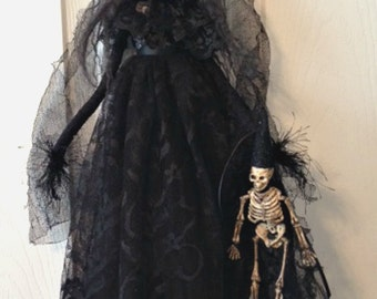 Halloween Witch, Witch Doll, Halloween Decoration, Witch with Skelly