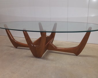 Mid Century Modern Adrian Pearsall Sculptural Coffee Table with Planter Base: Danish Modern