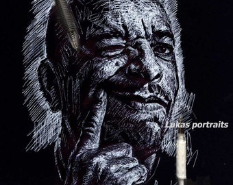 Custom Sketch, Personalized Sketch, Custom Drawing - Pen Portrait, Pen Portrait, Pen Sketch, Personalized Portrait