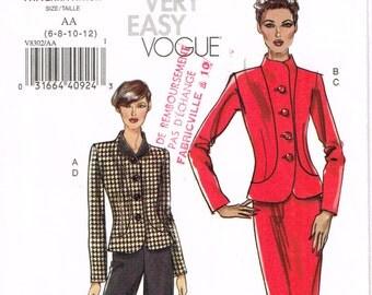 Vogue 8302 - Jacket, skirt, pants  - Size 6, 8, 10, 12 - Uncut