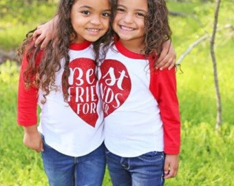 Best Friends shirts, best friend shirts, matching mommy and me BFF shirts, Bff shirt, kid's Raglans, Besties shirt