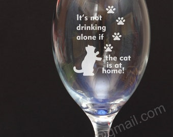 Cat Paw engraved wine glass Birthday,Christmas Secret Santa gift present 15