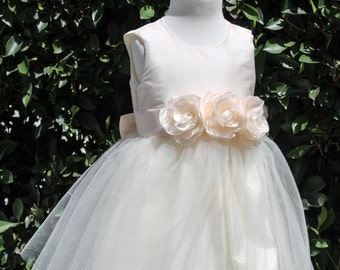 Flower girl dress, wedding dress,couture infant dress, girl dress, special occasion dress,bridesmaid