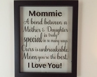 Picture Frame, Mother of the Bride, Mothers day, Mothers day gift, Mother's day, Mother, Christmas, Grandmother, Gifts, Birthday Gifts