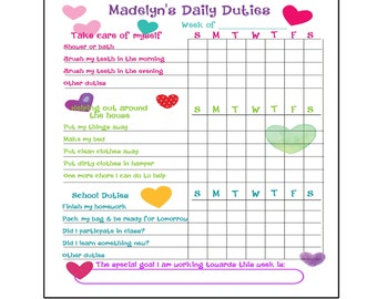To Do List, Chore Chart Organizer for kids