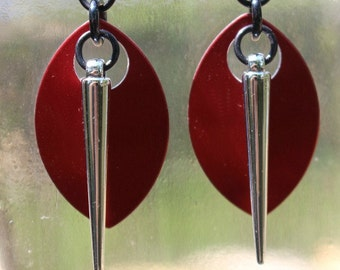 Scale and Spike Earrings