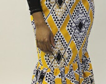 Diamond Print Long skirt