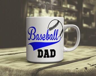 Baseball Dad coffee mug support, son, daughter