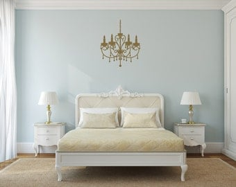 Chandelier Wall Decal Bedroom Decor Wall Vinyl Decal Sticker