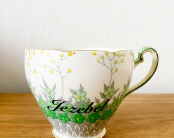 Jezebel | Custom Made To Order  Swear Teacup | Funny Rude Insult Obscenity Profanity | Unique Gift Idea