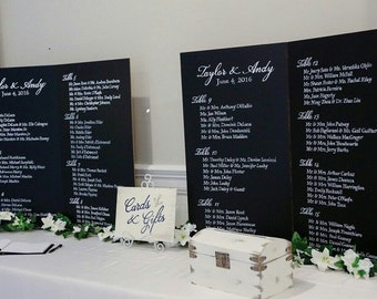 Wedding Gift, Hand Lettering Seating Chart,
