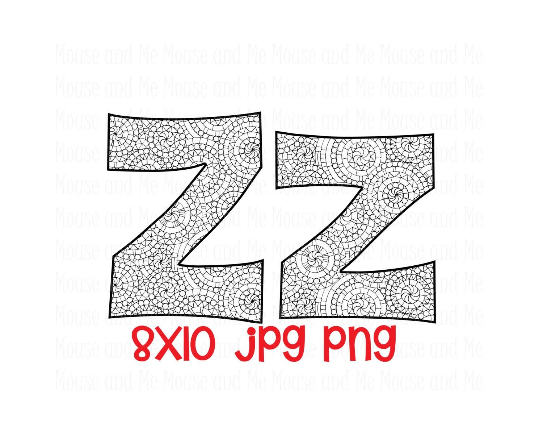 Lowercase Letter Z Letter Z z BOTH Upperc...