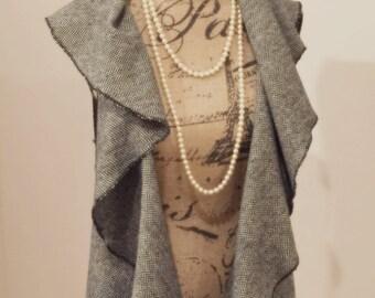 Sleeveless WaterFall Waistcoat