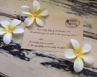 Sample Beach Wedding RSVP Postcards