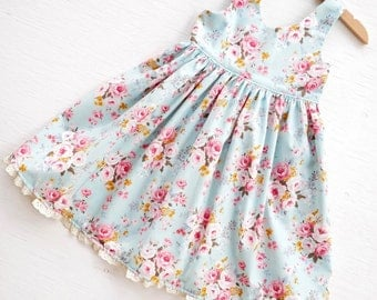 Girls Dress, Floral Dress, Birthday Dress, Party Dress, Tea Party Dress