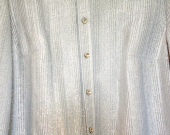 SPARKLY silver shirt