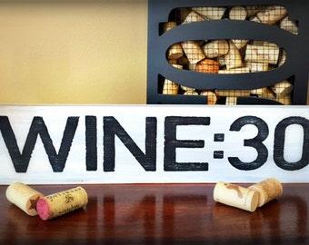 wine wood sign