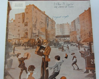 "Vintage 1932 ""Sidewalks of New York"" Sheet Music"