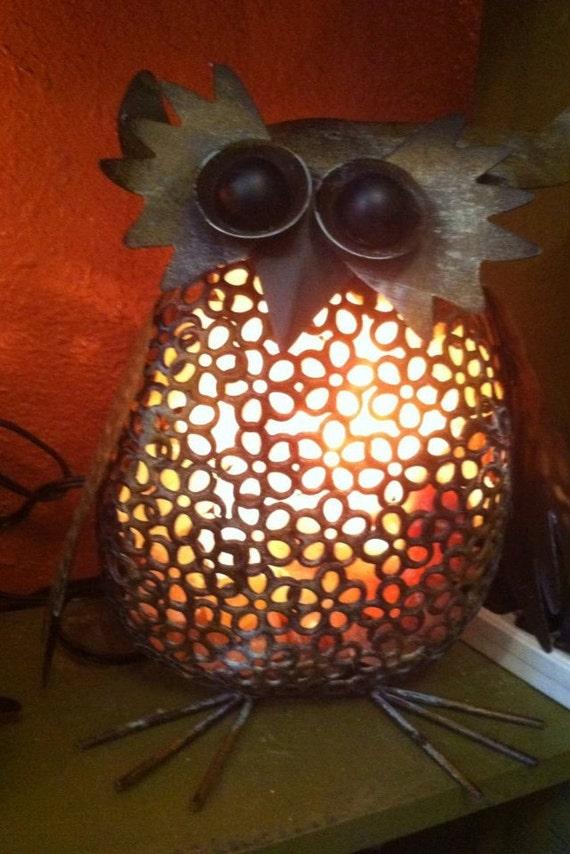 Vintage Owl Himalayan Salt Lamp by serenitymountainnc on Etsy