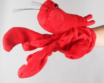 Adorable Lobster Animal Hand Puppet Plush Toys