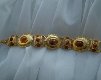 Vintage Faux Tiger Eye Bracelet