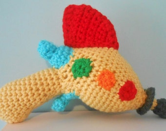 Handmade Crochet Retro Ray Gun Toy or Costume Accessory
