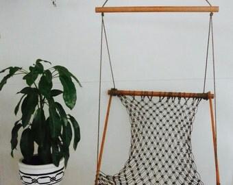 Macrame hanging chair/Hammock swing/Decor/Indoor outdoor/Handmade macrame chair