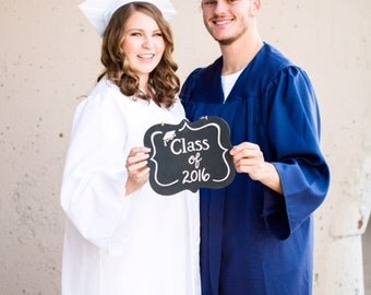 Reversible Senior picture chalkboard photo prop, Class of, I'm done, decorated chalkboard, Senior year, Graduation, Graduation pictures