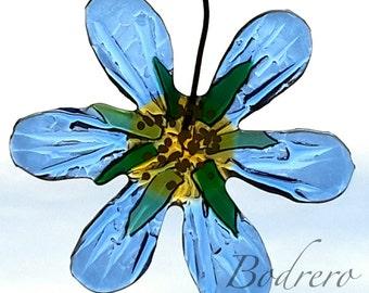 Glass Acchiappasole glass flower decoration Clematis