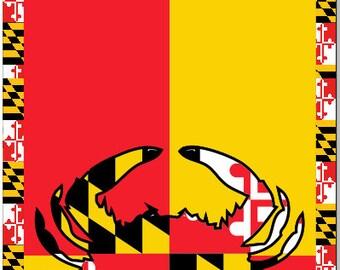 Maryland Flag Crab 2 Cornhole Wrap Bag Toss Decal Baggo Skin Sticker Wraps