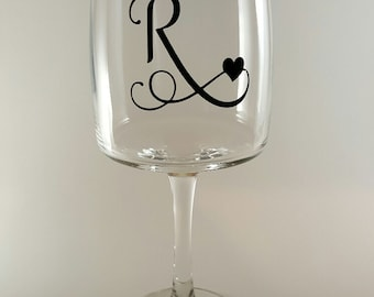 Personalized - Initial Wine Glasses