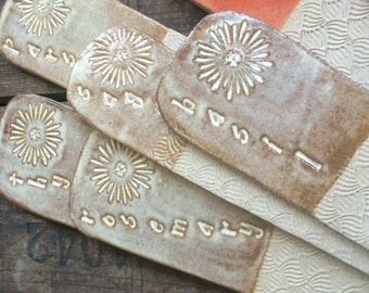 Herb Garden Markers ~ Antique Birch Brown ~ Thyme ~ Parsley ~ Rosemary ~ Sage ~ Basil ~ Herb Tags & Labels ~