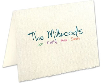 Deckled Edge Personalized Note Cards | The Enchanted Envelope