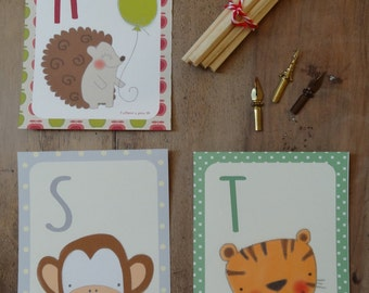 Postcards with alphabet or initial name