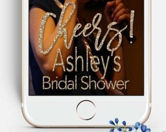 Snapchat Bridal Shower GeoFilter, Wedding Geofilter, Gold Glitter, Gold Geofilter, Bachelorette Party, Couple Goefilter, Reception