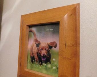 "LOG HOME LOVER'S Special:  8 X 10  ""Spring Fever"" in a custom built log frame (#5350)"