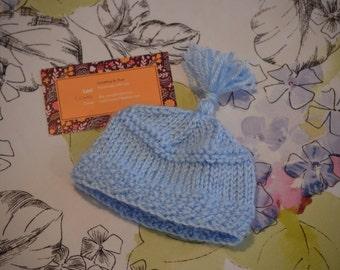 Handmade Newborn Hat, Newborn Boy Hat, Knit Hat