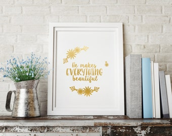 Gold foil print, Gift for her, Religious gifts, Office decor, Gift for mom, Baby shower gift, Gold home decor,  Gold decor, Prints