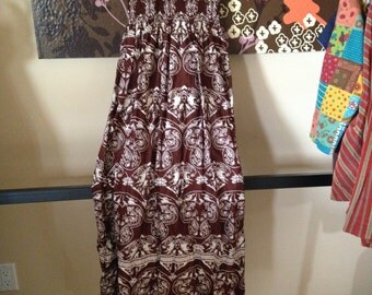 Brown and White Tribal Designed Skirt/Dress
