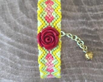 15mm Adjustable Bracelet - Summer Rose
