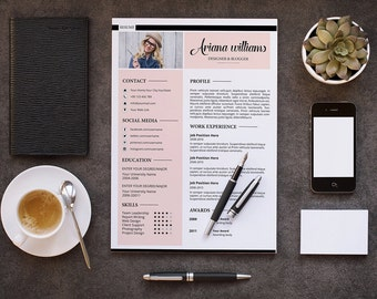 SALE ! Professional Resume Template | Modern and Creative Resume | Cv Design | Photoshp & Ms Word Template | Instant Download | CV-27